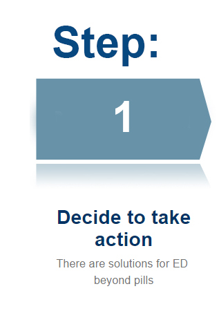 Step 1: Decide to take action. There are solutions for ED beyond pills.